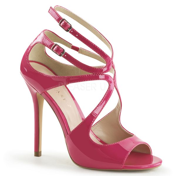AMUSE-15 High-Heel Sandalette mit Riemchen in hot pink Lack